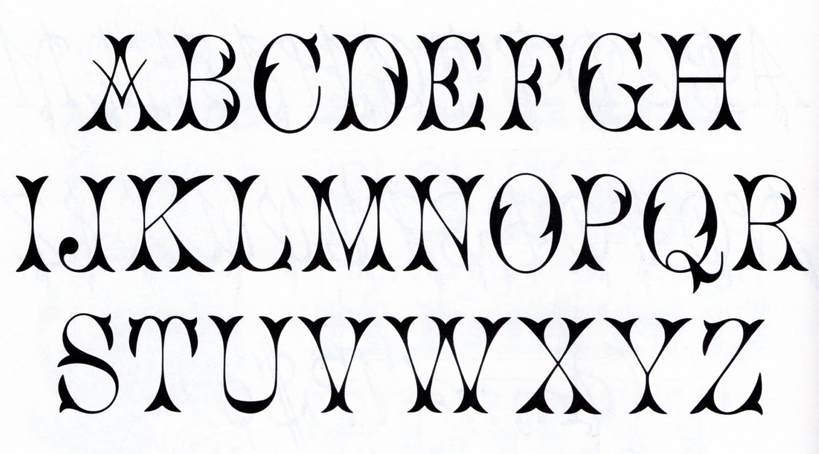 13 Vintage Font Alphabet Letters Images