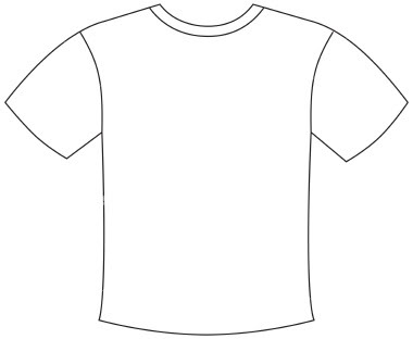 15 Large T-Shirt Template Images