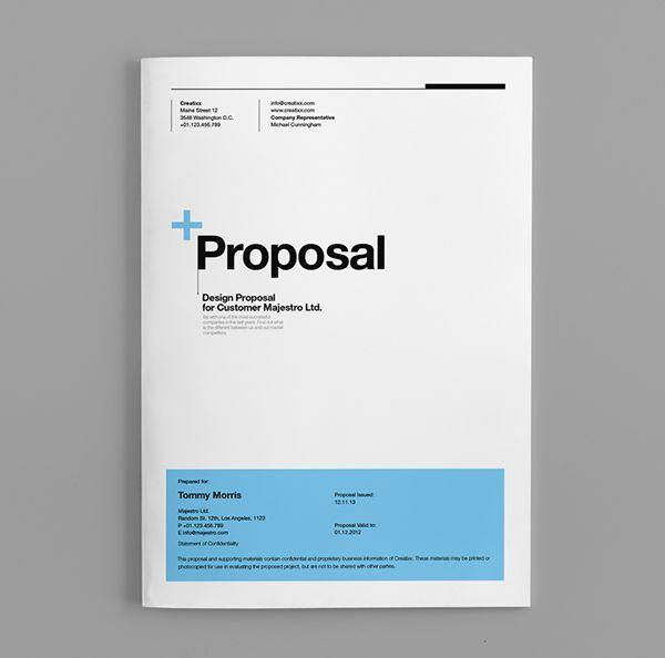 Proposal Cover Design Templates
