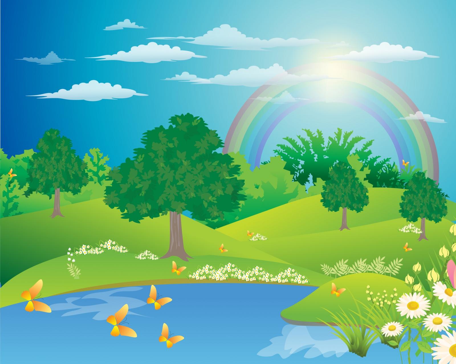 Rainbow Landscape Images Free