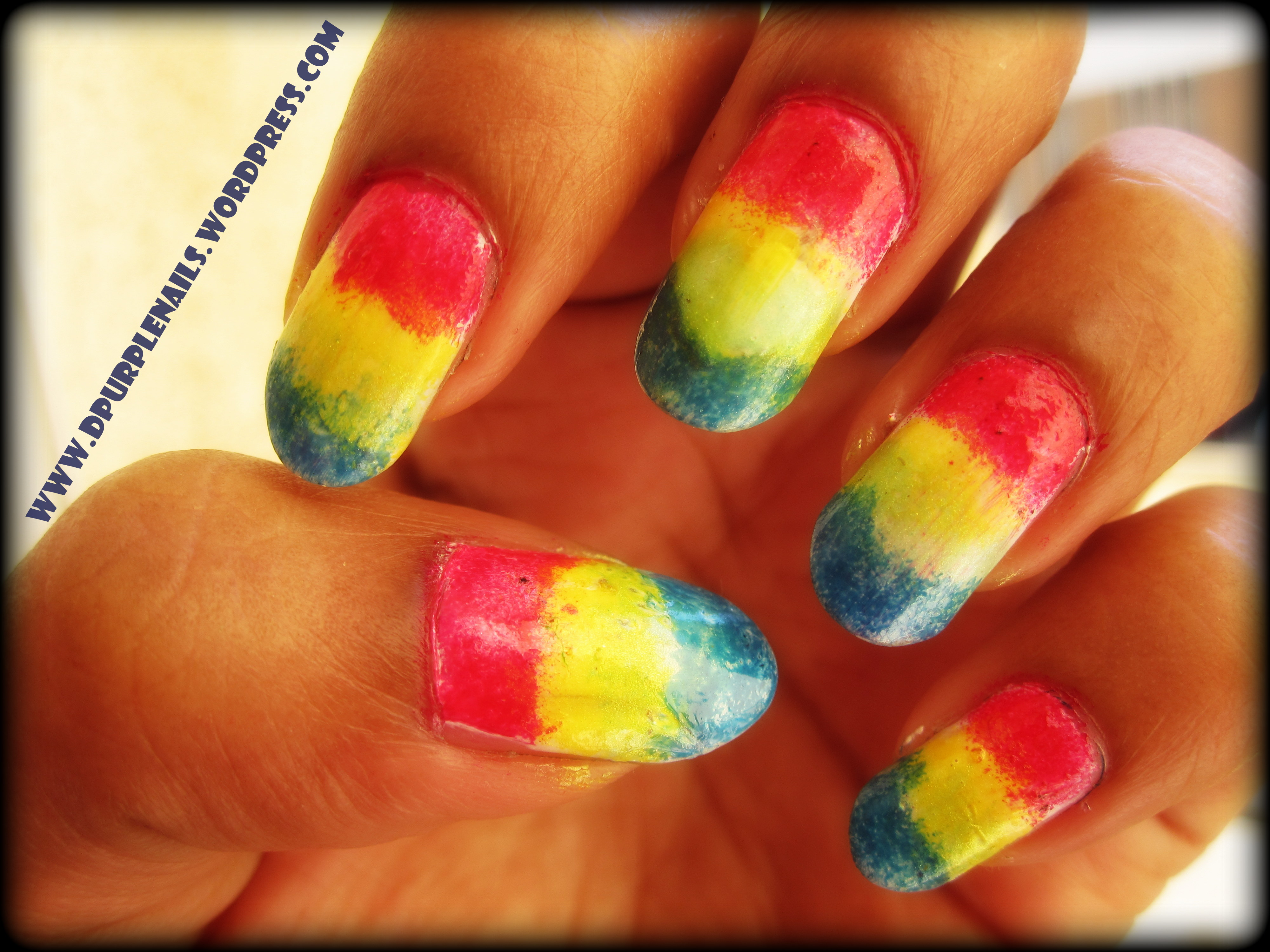 Red Yellow and Green Nail Designs