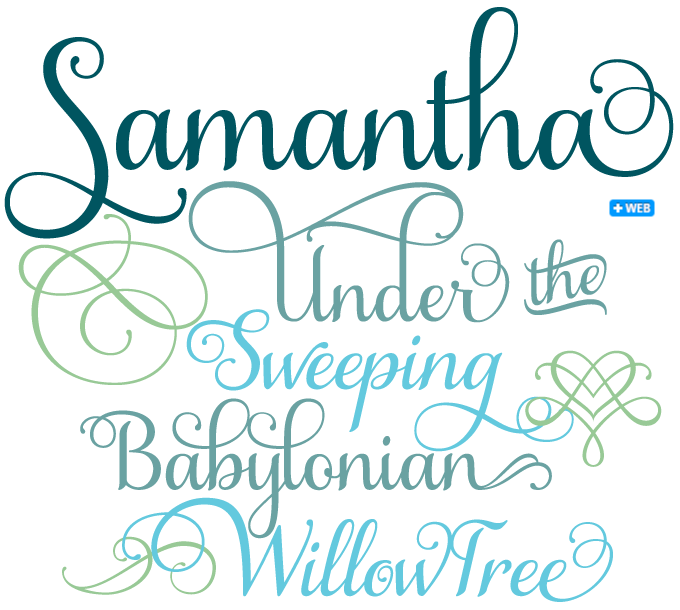 9 Samantha Script Font Free Images