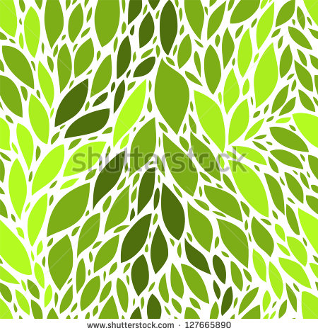 Seamless Pattern Green Leaves