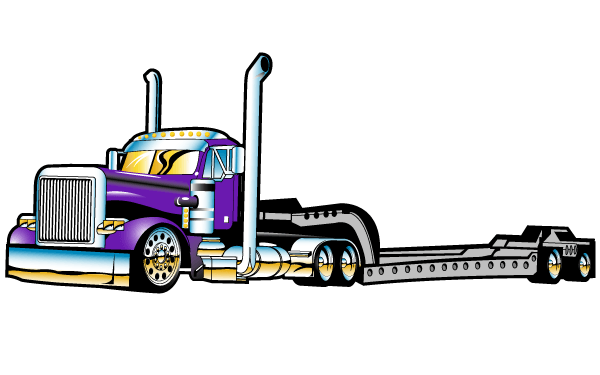 Semi Truck Vector Art Free