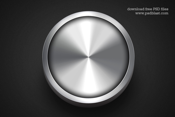 Silver Button PSD Template