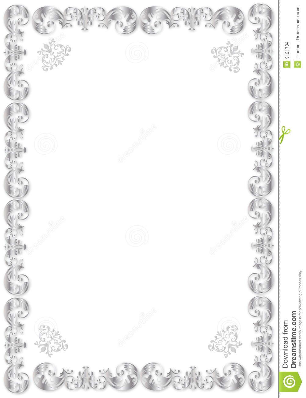 15 silver frame border design images silver frames