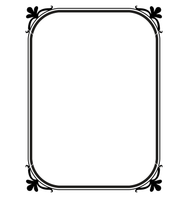 Simple Ornamental Decorative Frame Vector Black