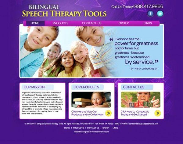 Speech Therapy Website Design