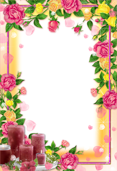 15 Flower Frames For Photoshop Images