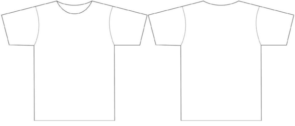 15 Large T Shirt Template Images Printable Front And Back
