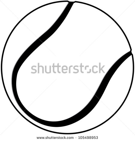 Tennis Ball Outline