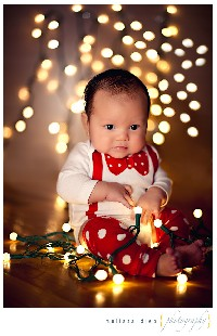 Cute Baby Christmas Card Idea