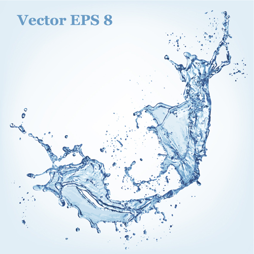 Transparent Water Splash Vector Free
