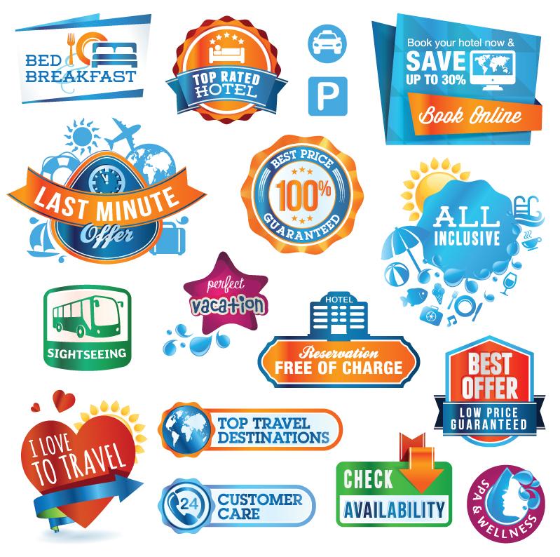 Travel Sticker Vector Free