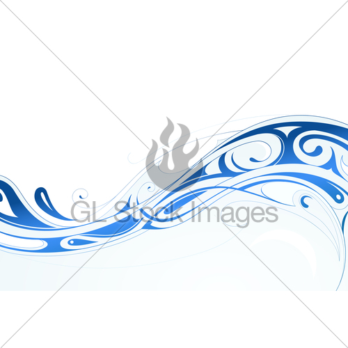 Tribal Water Wave Graphic