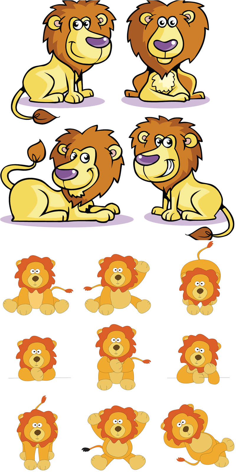 13 Vector Cartoon Lions Images
