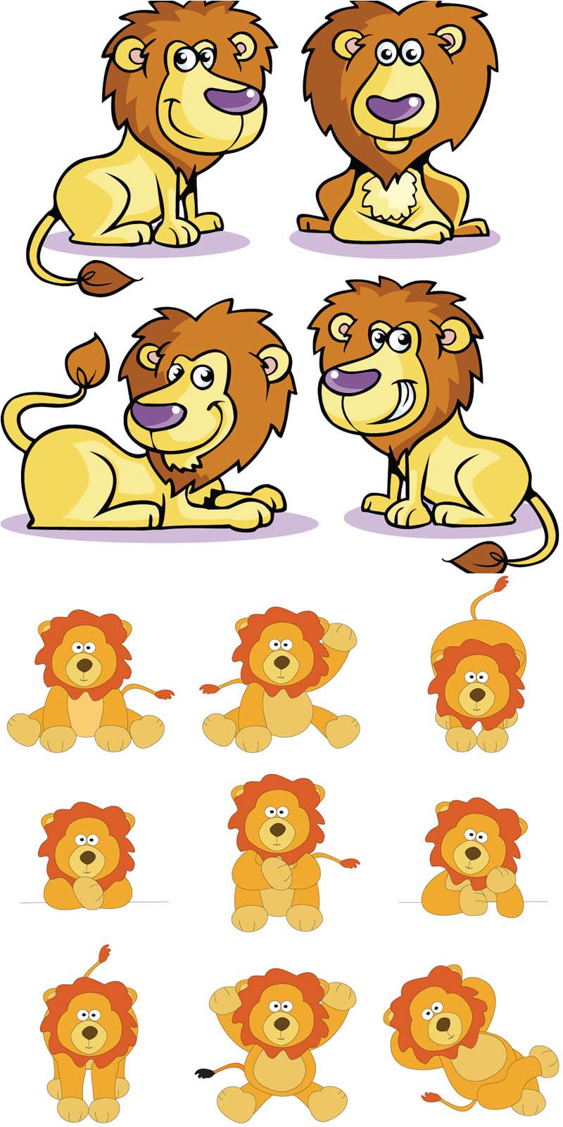 13 Vector Cartoon Lions Images