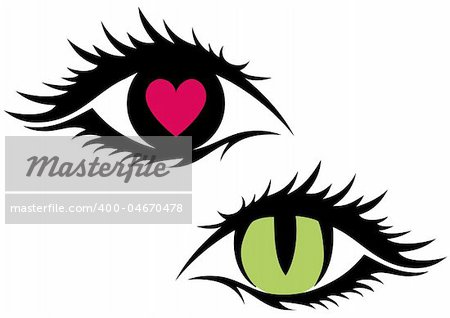 11 Eye And Heart Vector Images