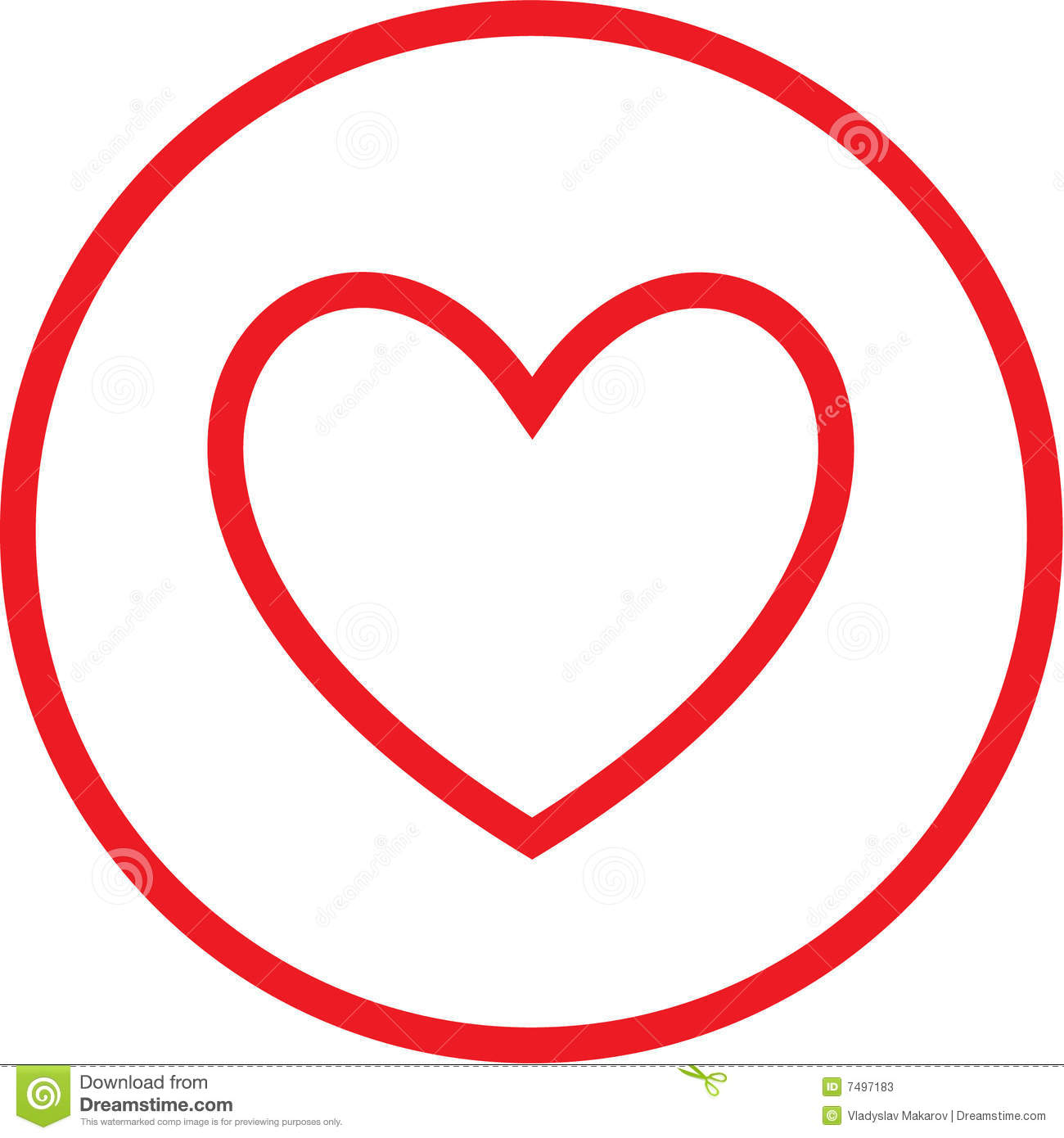 Vector Heart with Arrow