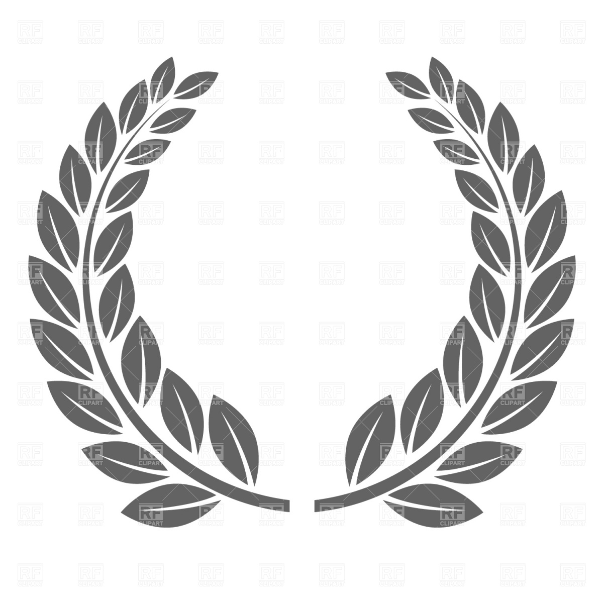 10 circle crest vector images vector laurel wreath clip for Laurel leaf crown template