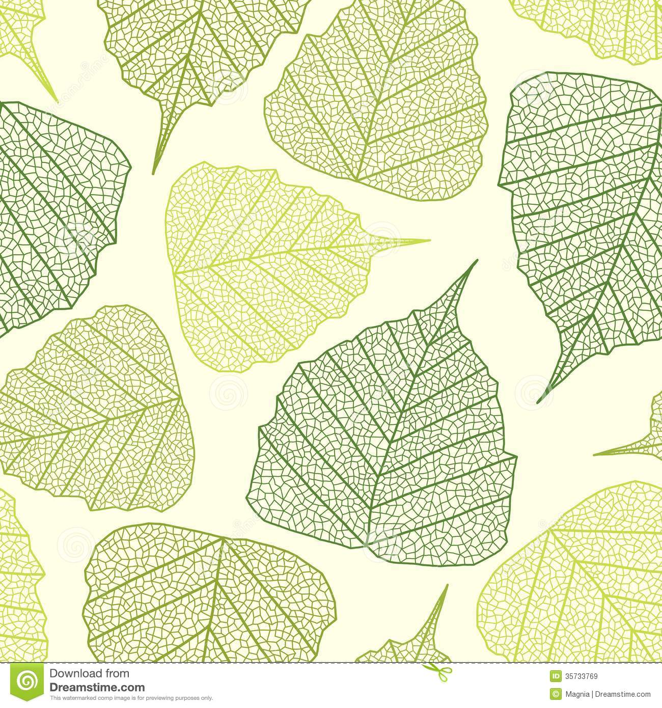Vector Leaf Pattern