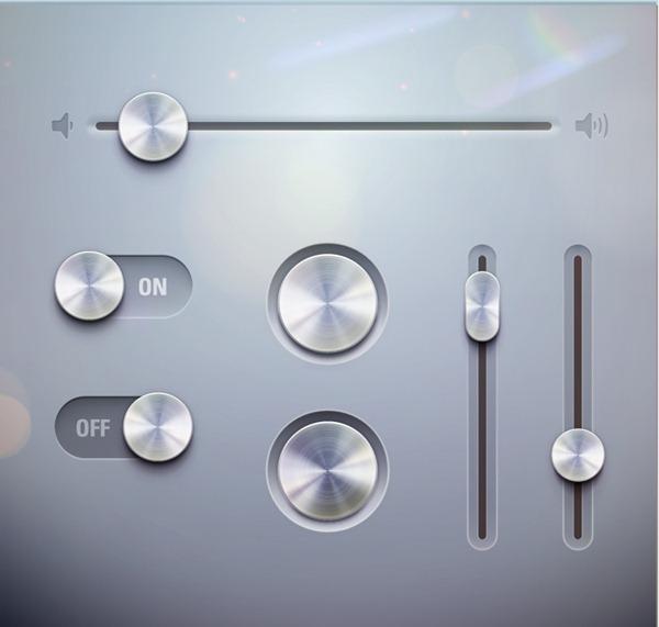 Vector Metal Button Texture