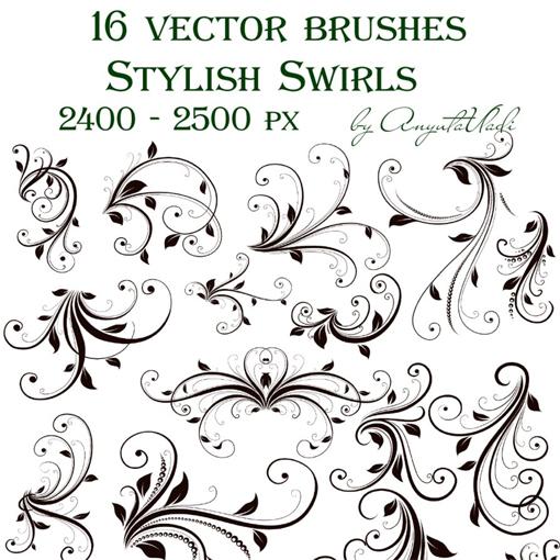 14 vector swirl brushes images free vector swirls brushes