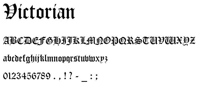 7 Victorian Font Examples Images - Victorian Font, Victorian