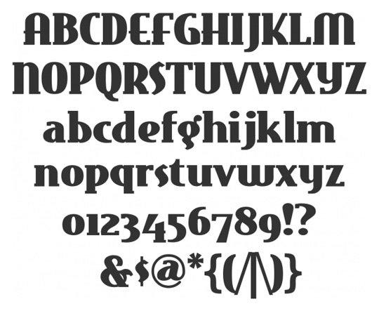 14 Vintage Type Letter Fonts Images