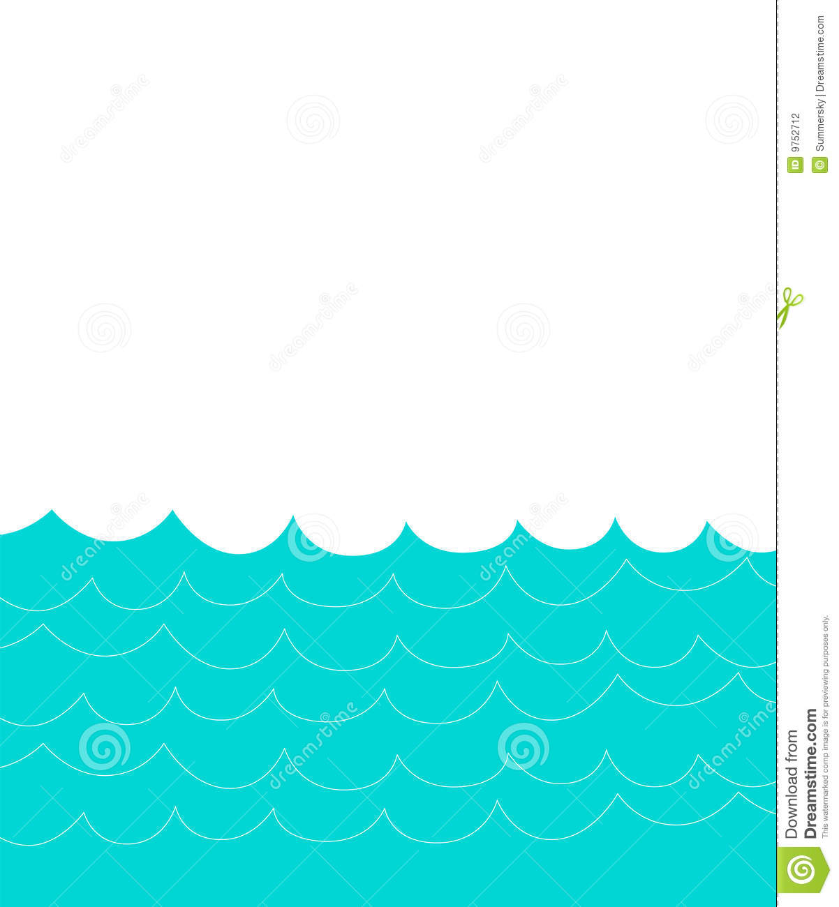 Water Wave Border Clip Art