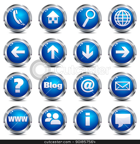 14 Silver Web Icon Set Images