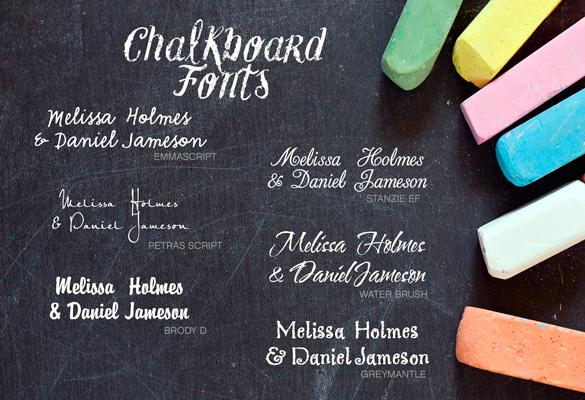 Wedding Chalkboard Font