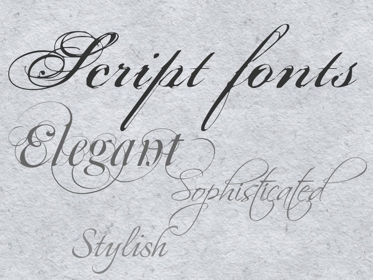 Elegant free wedding fonts images