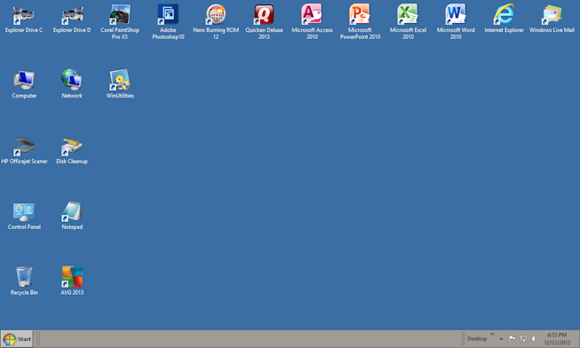 Windows 8 Desktop Icons