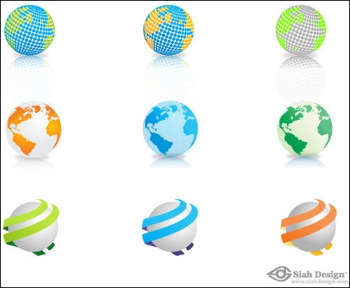 13 World Logo Vector PSD Images