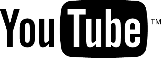 YouTube Logo Black and White