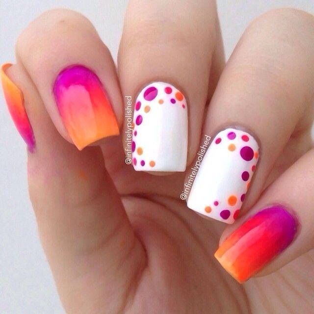 2015 Summer Ombre Nail Designs