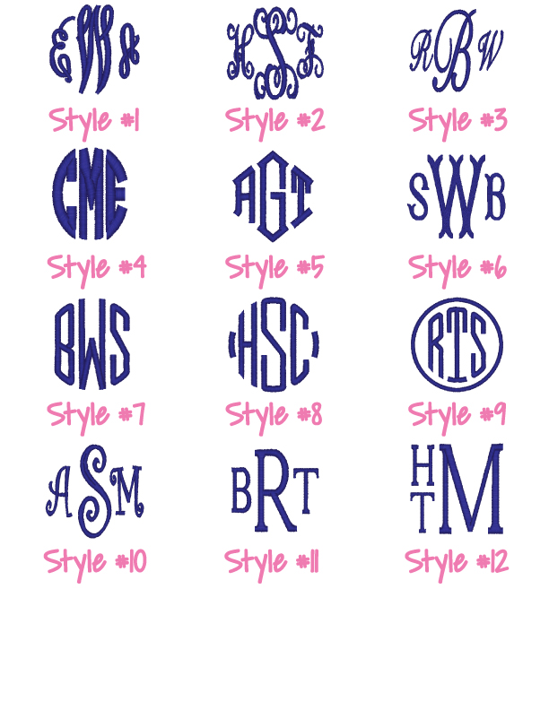 3 Letter Monogram Font Design