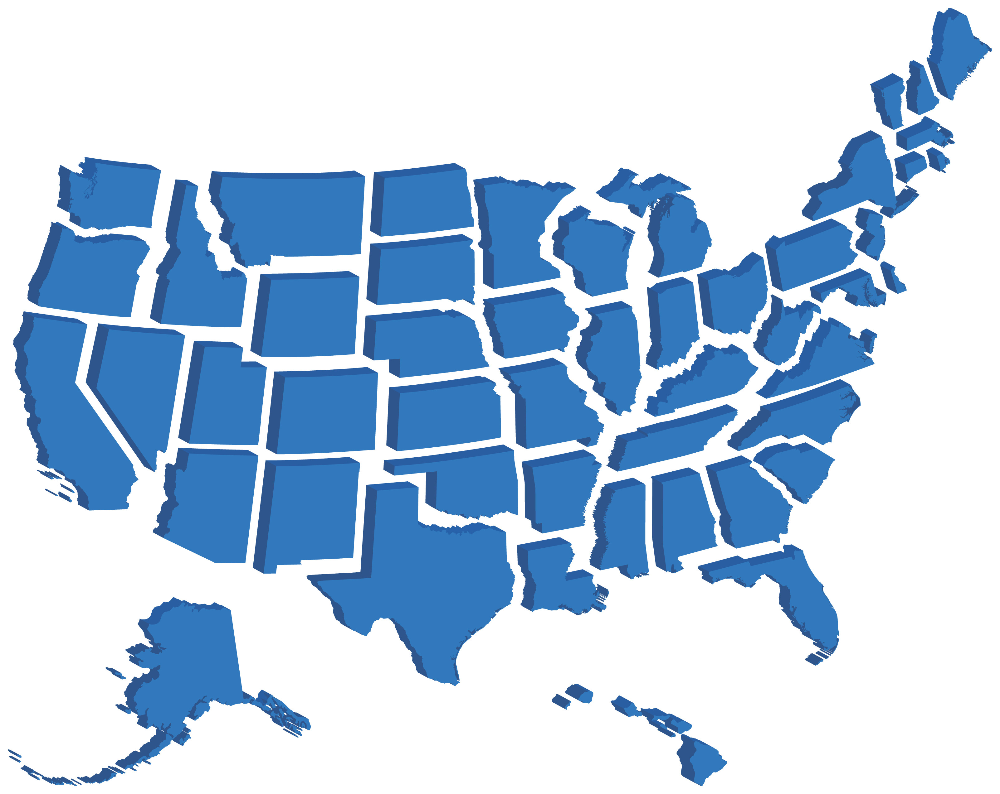 D Map Of United States Stock Photo Image  Usa D Map - 3d map usa states
