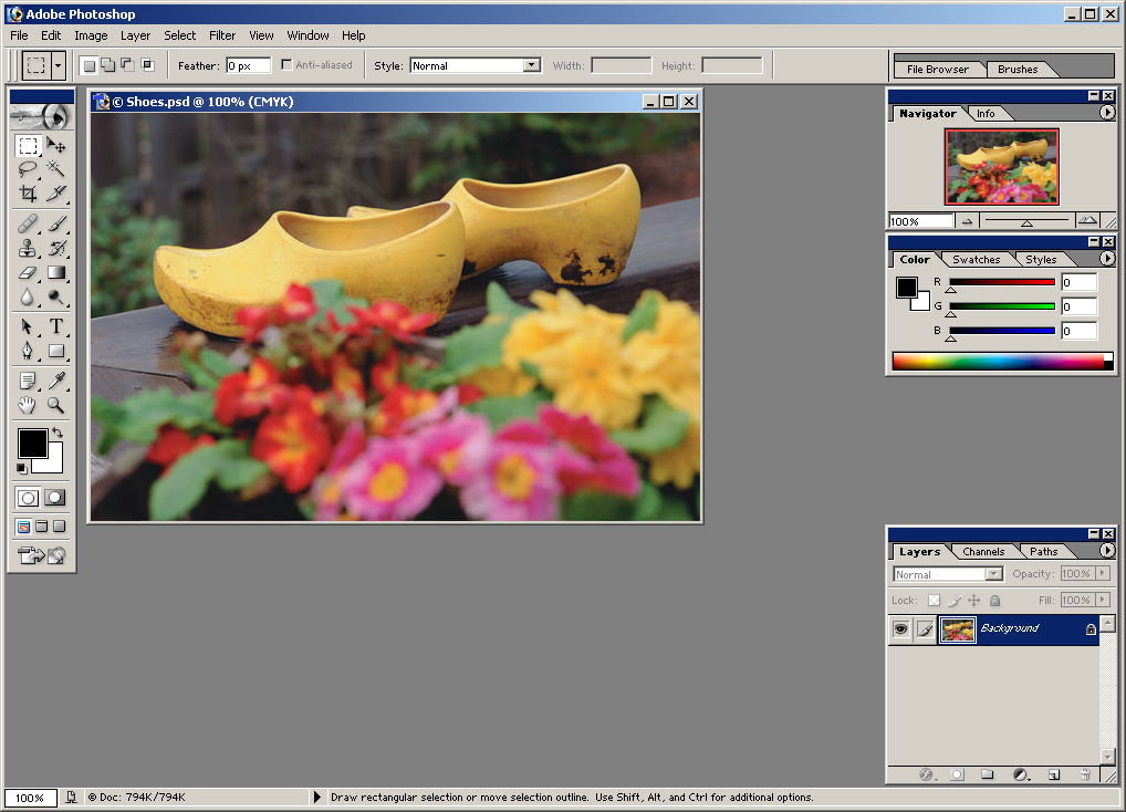 how to add image in photoshop 7.0