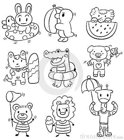 Animal Cartoon Drawings Hands