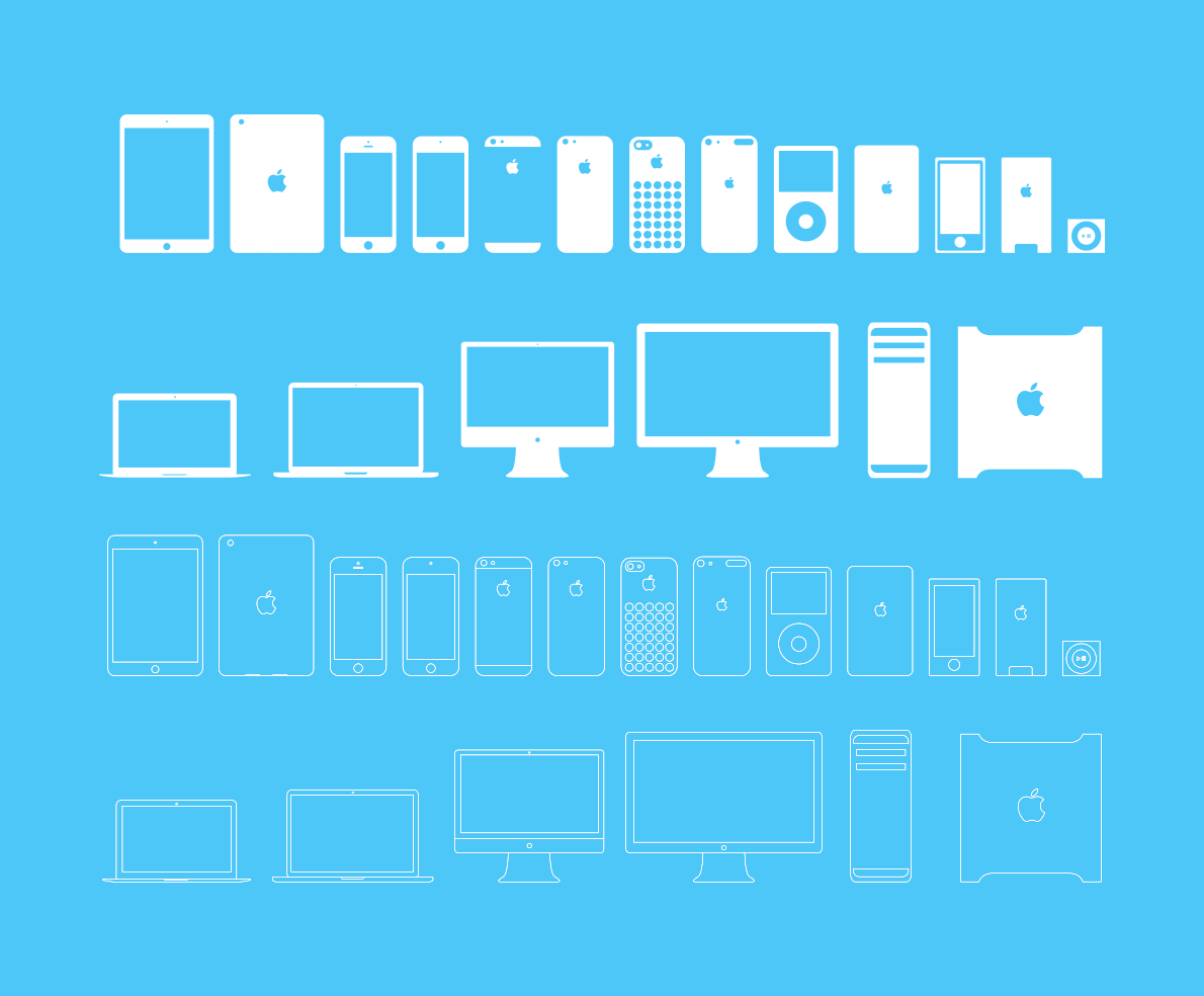 14 IPad And IPhone Device Icons Images