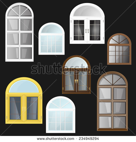 Arched Window Vector