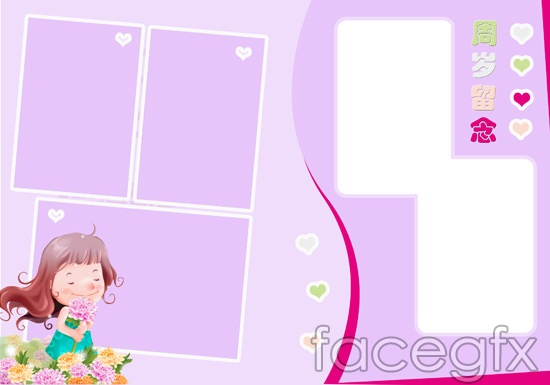 Baby Girls Photoshop PSD Frame Templates Free