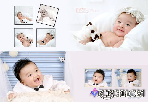Baby Picture Frames for Photoshop PSD
