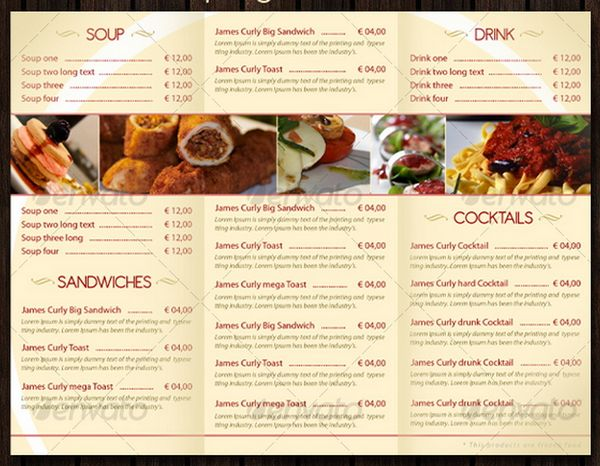 14 food menu template images restaurant food menu for Food bar menu