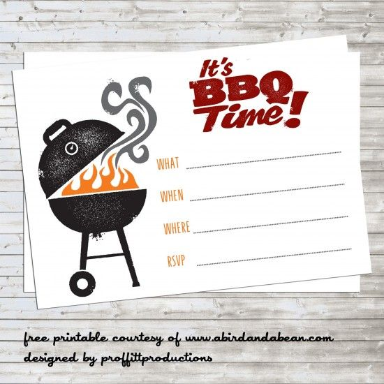 15 Bbq Invitations Free Printable Template Images Free