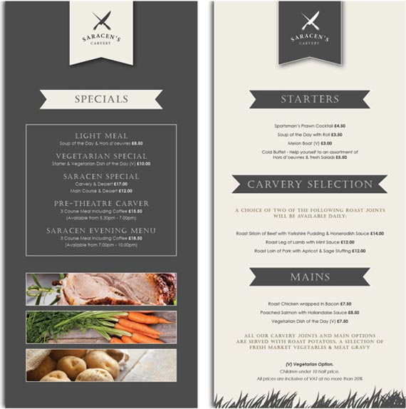 Design your own restaurant menu images create