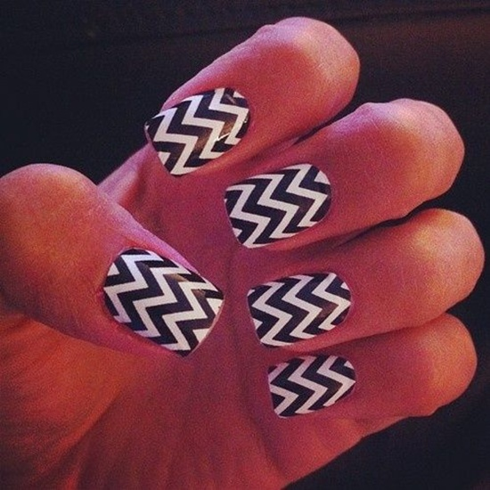 14 Zig Zag Nail Designs Images