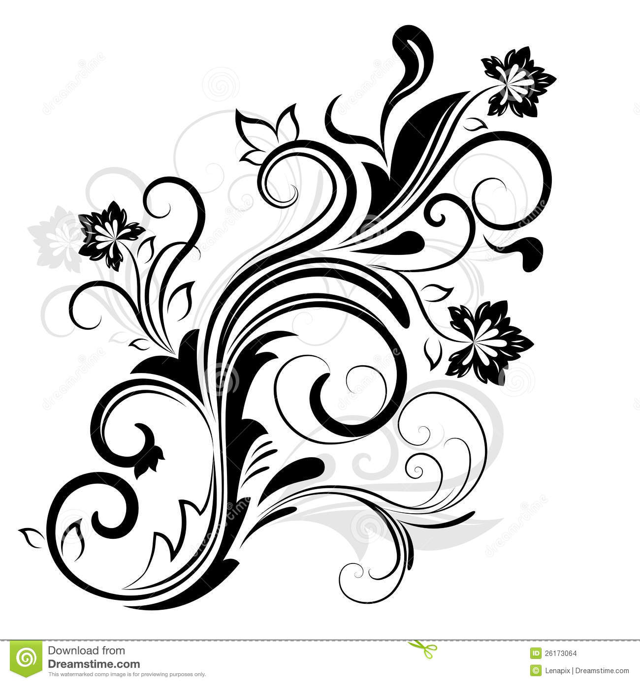13 Black And White Simple Flower Designs Images - Hibiscus ...